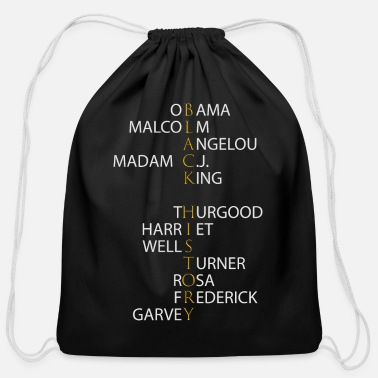 Madame Black History Month - Influential Black Leaders - Cotton Drawstring Bag
