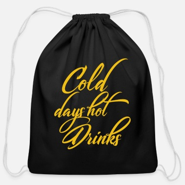 Hot Drinks Cold and Hot Drinks - Cotton Drawstring Bag
