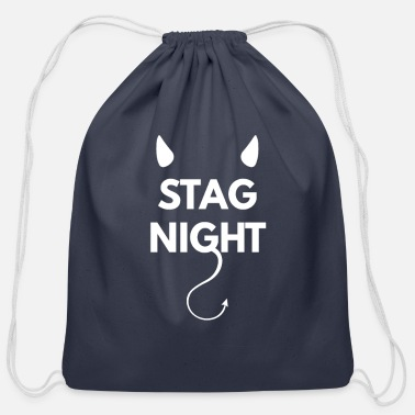 Wedding Party stag party at stag night - Cotton Drawstring Bag