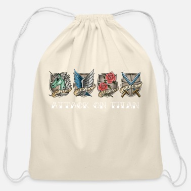 Attack On Titan attack on titan - Cotton Drawstring Bag