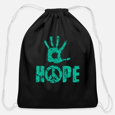 Freedom Of Expression Hope And Peace - Freedom Of Expression - Cotton Drawstring Bag
