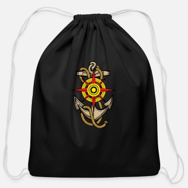 Anchor And Compass Anchor Compass - Cotton Drawstring Bag