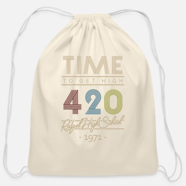 Cannabis Cannabis Vintage - Cotton Drawstring Bag