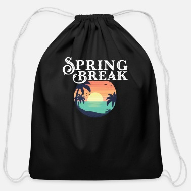 Spring Break spring break - Cotton Drawstring Bag