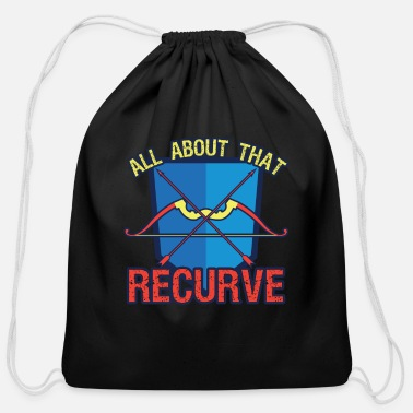Recurve Archery All About That Recurve - Cotton Drawstring Bag