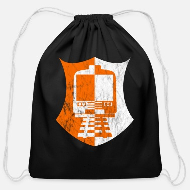 Railway Track railway tracks - Cotton Drawstring Bag