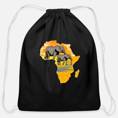 Continent Continent Africa - Cotton Drawstring Bag