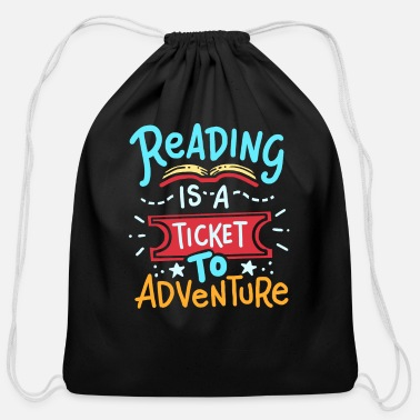 Read Reading Read - Cotton Drawstring Bag