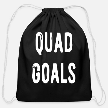 Gym Wear Quad Goals Gym Wear - Cotton Drawstring Bag