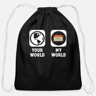 Cassette Cassette - Cotton Drawstring Bag