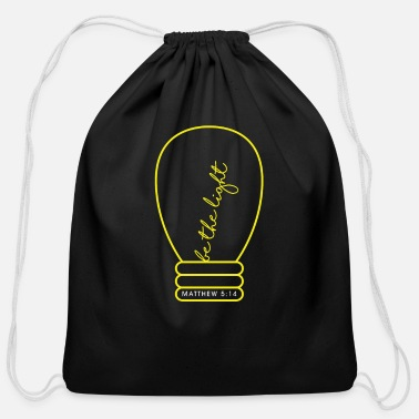 Church Light Bulb Bible Verse Design Cool Gift Idea - Cotton Drawstring Bag