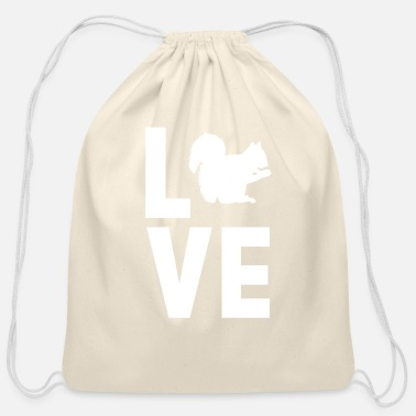 Squirrel Squirrel - Cotton Drawstring Bag