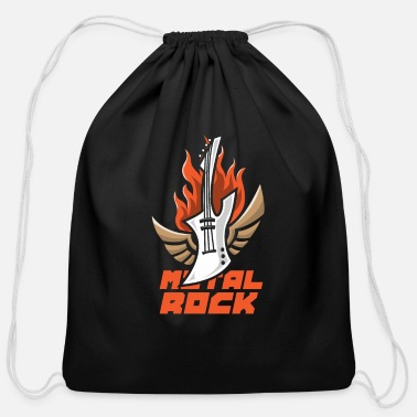 Metal Rock metal rock - Cotton Drawstring Bag
