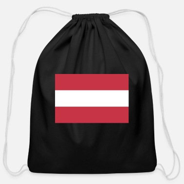 Austria Flag of Austria, Austrias flag, Austria flag - Cotton Drawstring Bag