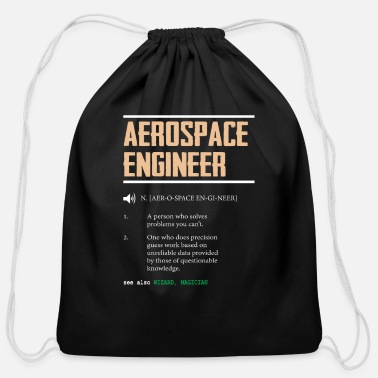 Engineer Definition of an Aerospace Engineer Gift Idea - Cotton Drawstring Bag
