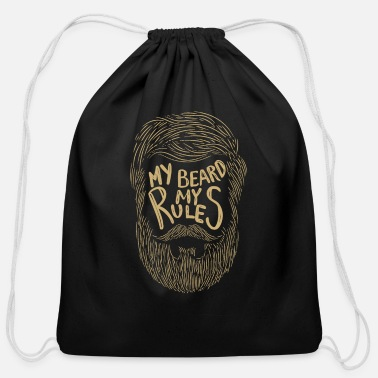 Funny Beard Gift for Men Hipster Beard Mustache - Cotton Drawstring Bag