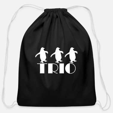 Character Penguin Trio - Cotton Drawstring Bag