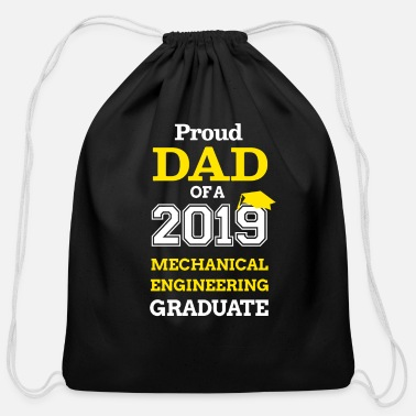 Stage 2019 Graduation Dad Mechanical Engineering - Cotton Drawstring Bag