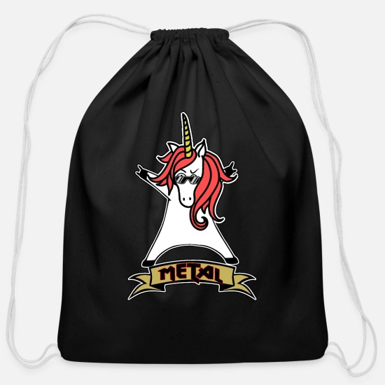 Metal Bags & Backpacks - Metal Unicorn - Unicorn - Metal - Music - Cotton Drawstring Bag black