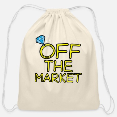 Off OFF THE MARKET Wedding Bachelor Party Bride Gift - Cotton Drawstring Bag