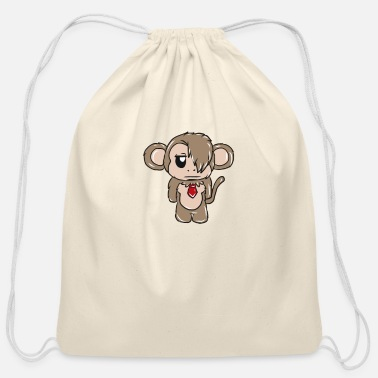 Emo Emo Monkey - Cotton Drawstring Bag