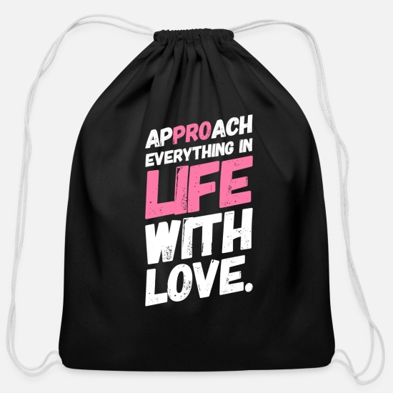 Anti-abortion Bags & Backpacks - Pro Life Anti Abortion Love - Cotton Drawstring Bag black