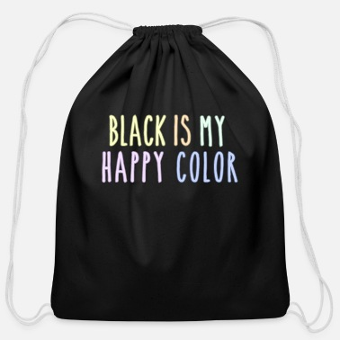 Funny Pastel Goth Gift Aesthetic Black Is My - Cotton Drawstring Bag