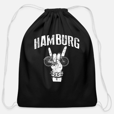 Bike Hamburg Port Rock Bike Lover Rider Cyclist Gift - Cotton Drawstring Bag