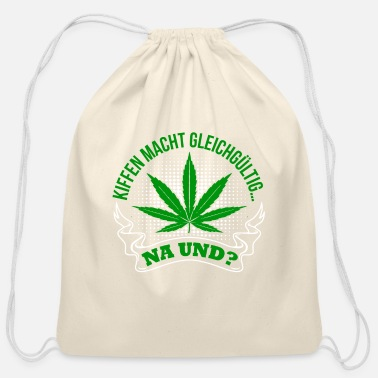 Hemp Hemp Leaf - Cotton Drawstring Bag