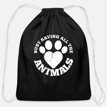 Rescue Veterinarian Animal Rescue Pet Lover Vet Tech - Cotton Drawstring Bag