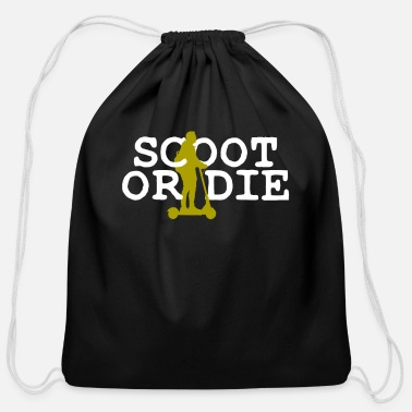 Scooter Scootering Scooter - Cotton Drawstring Bag