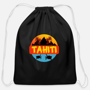 Tahiti Tahiti - Cotton Drawstring Bag
