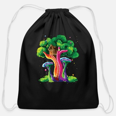 Colorcontest Colorful Tree Vivid Color Painting Art Gift Idea - Cotton Drawstring Bag