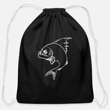 Plaice Piranha - Cotton Drawstring Bag