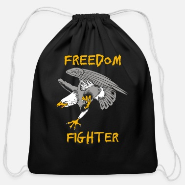 Freedom Fighters Bird Freedom Fighter - Cotton Drawstring Bag