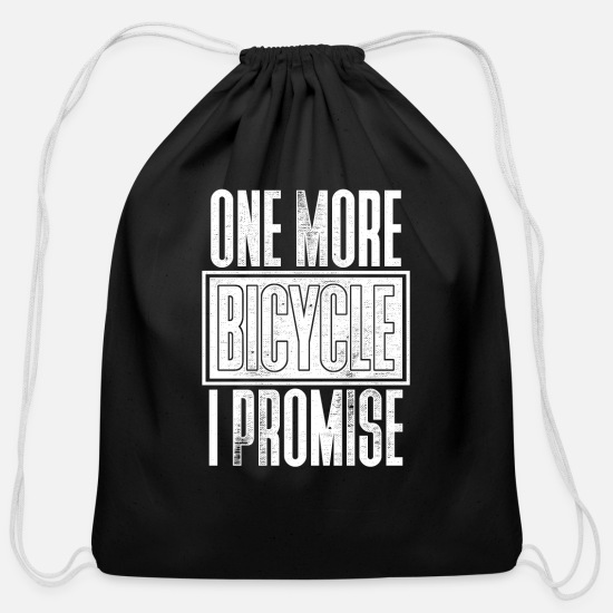 Cycling Bags & Backpacks - One Bicycle | Bike| Cycling | Sports | Recreation - Cotton Drawstring Bag black