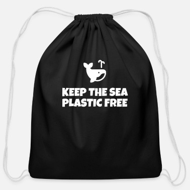 Plastikmüll Keep The Sea Plastic Free - Cotton Drawstring Bag