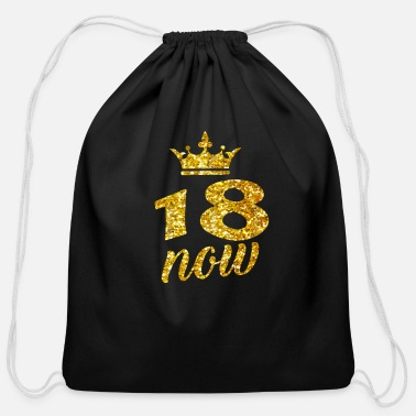 18th Birthday Sweet 18 Birthday 18 Years Old Party Teenager Gift - Cotton Drawstring Bag