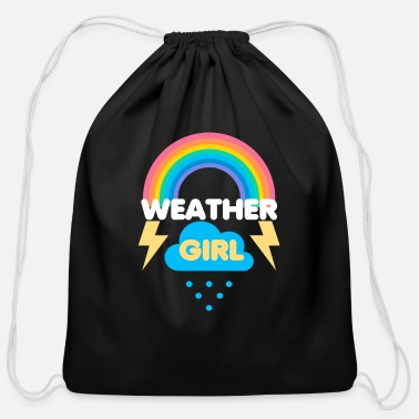 Weather Funny Weather Girl Meteorologist Meteorology Cloud - Cotton Drawstring Bag