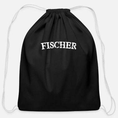 Surname Fischer Surname - Cotton Drawstring Bag