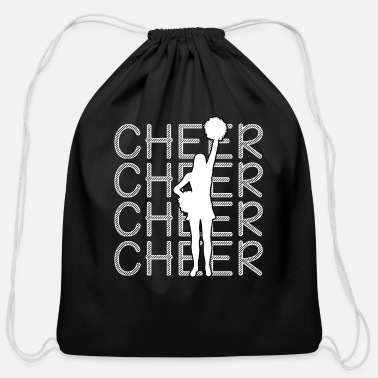 Cheerleading - Cheer Cheer Cheer - Cotton Drawstring Bag