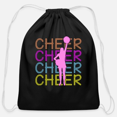 Cheers Cheerleading - Cheer Cheer Cheer - Cotton Drawstring Bag