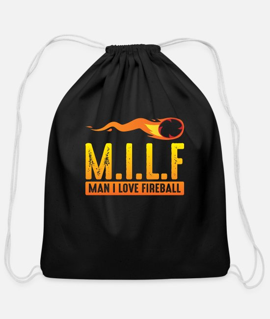 MILF Bags & Backpacks - MILF Man I Love Fireball Funny ambiguous - Cotton Drawstring Bag black