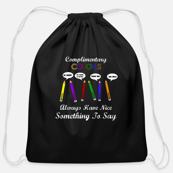 Student Bags & Backpacks - Artist Art Teacher - Cotton Drawstring Bag black