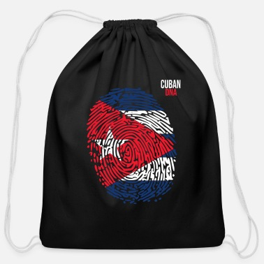 Cuban Roots Design Cuba Flag. Cuban DNA. Cool Cuban Flag. Cuban Roots - Cotton Drawstring Bag