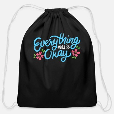 Inspirational Quotes Inspirational Quote - Cotton Drawstring Bag