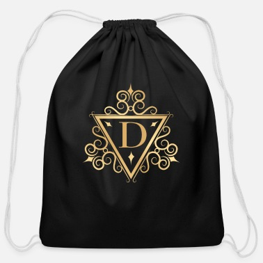 Daddy Of The Year D for Daddy Super Dad Father of the Year - Cotton Drawstring Bag