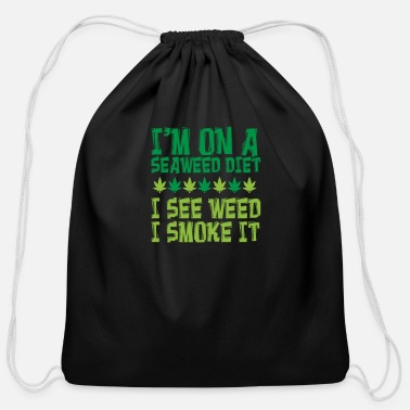 Oil Weed Hemp Lover Cannabis Smoker Gift - Cotton Drawstring Bag