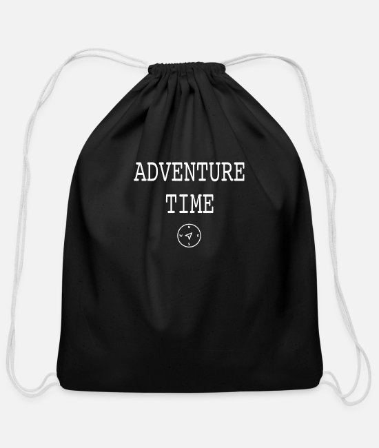 Earth Bags & Backpacks - Adventure Time Kompass Travel - Cotton Drawstring Bag black