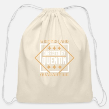 China Written And Directed By Quentin Quarantine - D3 - Cotton Drawstring Bag